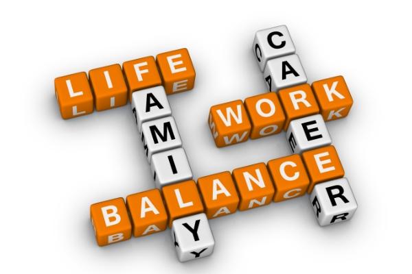 letterdobbelstenen die work life balance spellen