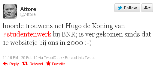 BNR interview Hugo de Koning