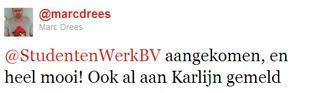 @marcdrees reactie StudentenWerk boekje